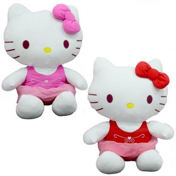 Peluş Hello Kitty Elbiseli Kurdeleli 70Cm