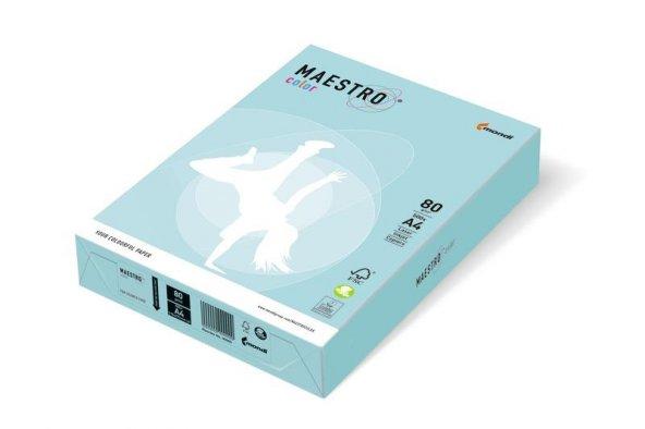 Maestro A4 Renkli Fotokopi Kağıdı Açık Mavi Mb30 80Gr 1 Paket 500 Adet
