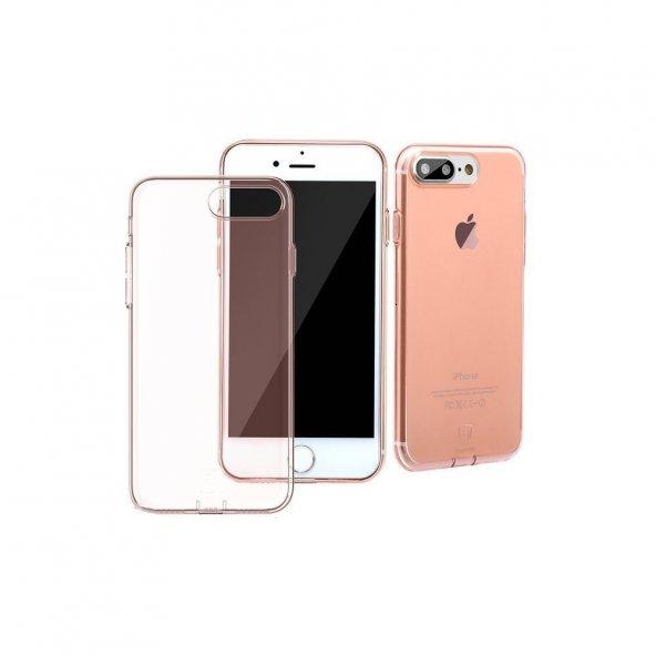 Baseus(Tıpalı)Simple serisi Kılıf iPhone 7Plus /8 PLUS Şeffaf Rose Gold
