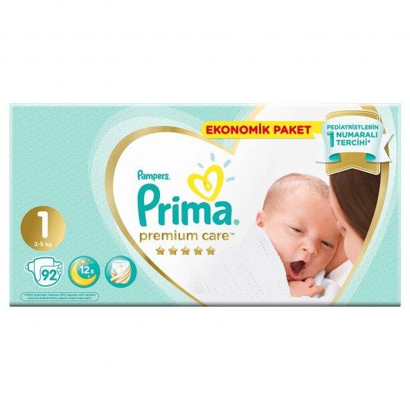 Prima Premium Care Yenidoğan 1 numara Bebek Bezi 92 Adet Fırsat Paketi