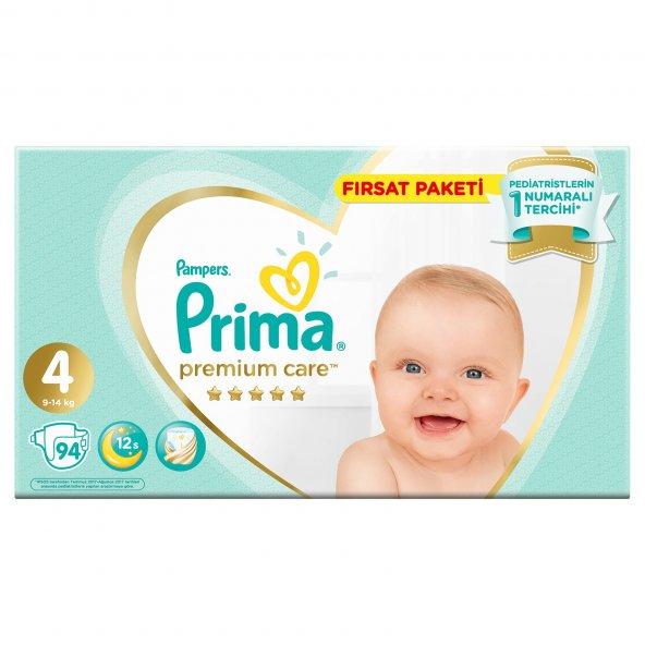 Prima Premium Care 4 Numara 94 Adet Bebek Bezi Avantajlı Paket