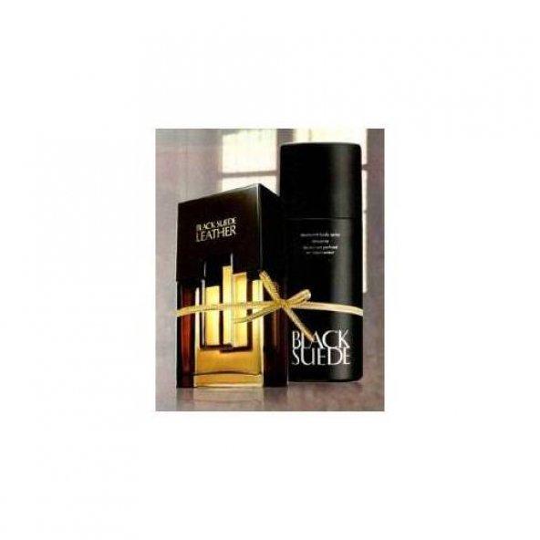 AVON Black Suede Leather Edt 75 ml + Black Suede Sprey Deodorant - 150ml