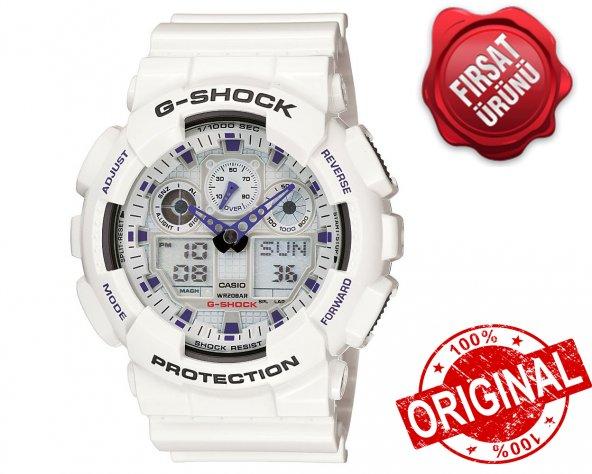 Casio GA-100A-7ADR  G-SHOCK ERKEK KOL SAATİ