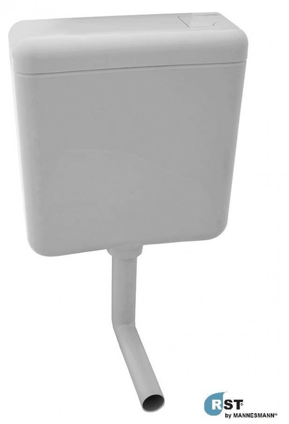 RST® MANNESMANN Plastik WC Rezervuar - Eko Kademeli - L - Borulu