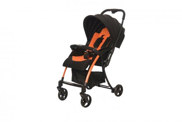 Baby2Go 8020 Pinna Lüks Çift Yönlü Bebek Arabası Turuncu