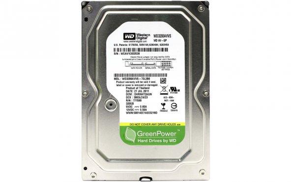 WD Green Power 320GB 7200Rpm 8Mb 3,5 SATA3 Sabit Disk WD3200AVVS