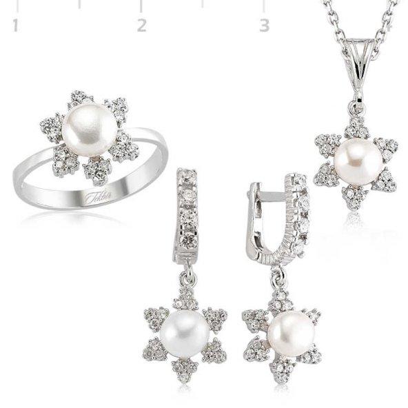 İnci Bayan Pirmoda Gümüş Set