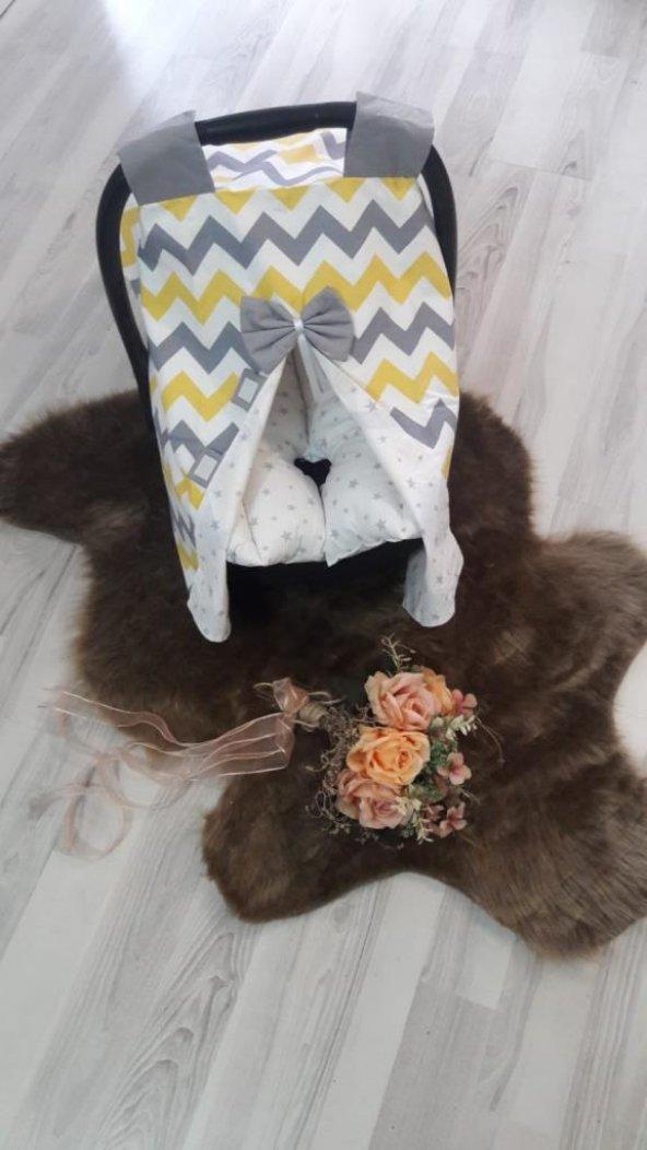 Bebe Puset Minderi ve Örtüsü İkili Set - pom005