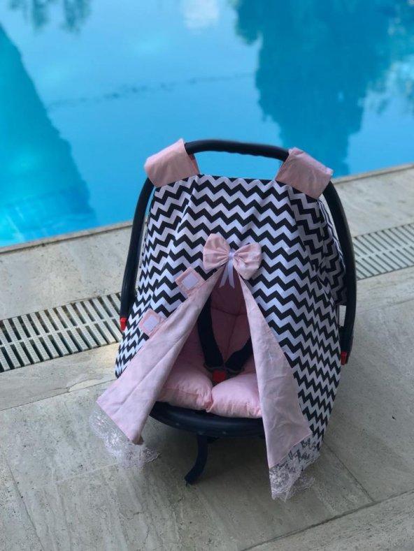 Bebe Puset Minderi ve Örtüsü İkili Set - pom008