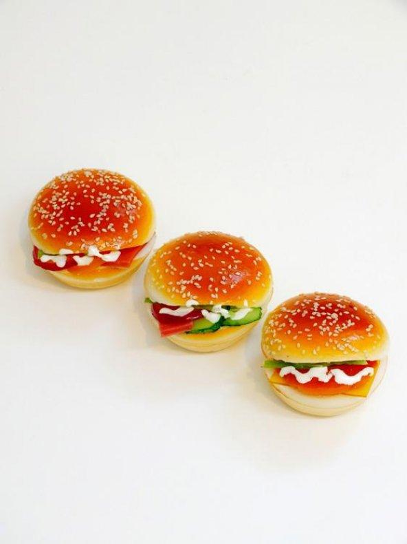 Buffer Hamburger Gerçekçi Buzdolabı Magneti
