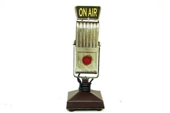 Dekoratif Metal Mikrofon C0256