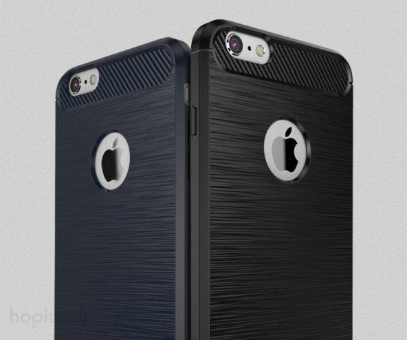 iPhone 6s Plus Silikon Kılıf Rush Arka Kapak + Ekran Koruyucu Temperli Cam