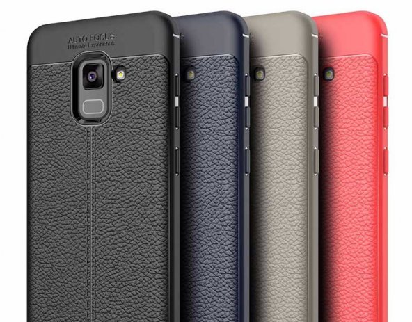 Samsung Galaxy A8 Plus 2018 Kılıf Kap Nish Silikon Kapak + Kırılmaz Cam Ekran Koruyucu