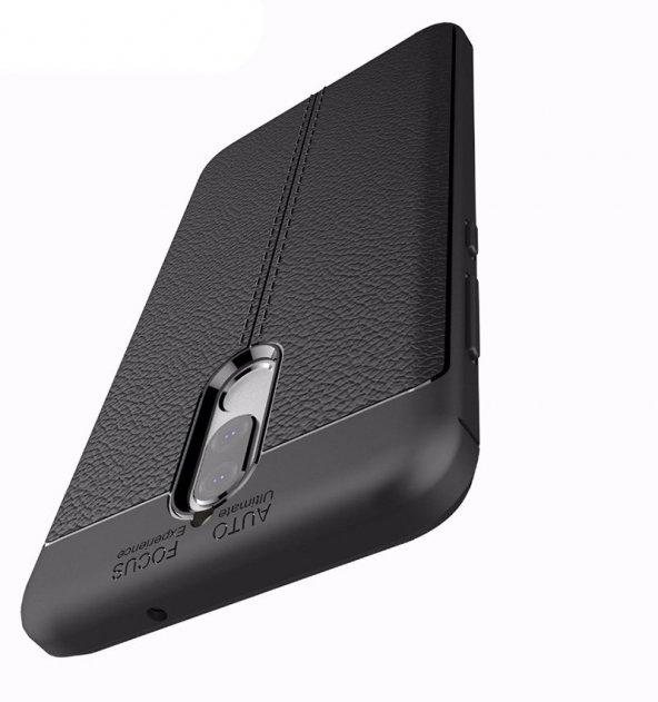 Huawei Mate 10 Lite Kılıf Kap Nish Silikon Arka Kapak + Ekran Koruyucu Nano Kırılmaz Cam