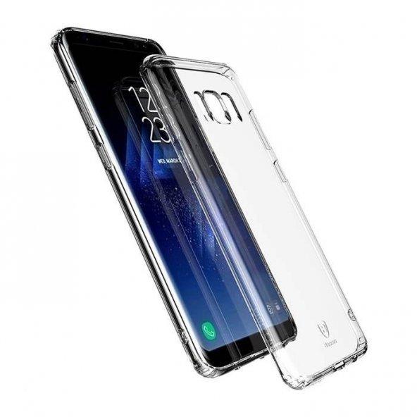 Baseus Simple Şeffaf Silikon Samsung Galaxy S8 Kılıf Arka Koruyucu Kapak