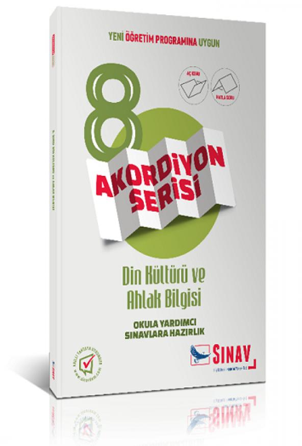 8. Sınıf Din Kültürü ve Ahlak Bilgisi Akordiyon Kitap Sınav Yayın