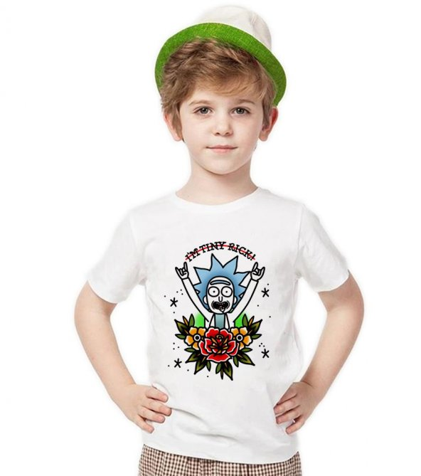 Tshirthane Rick and Morty  Metal Rock tişört Çocuk tshirt
