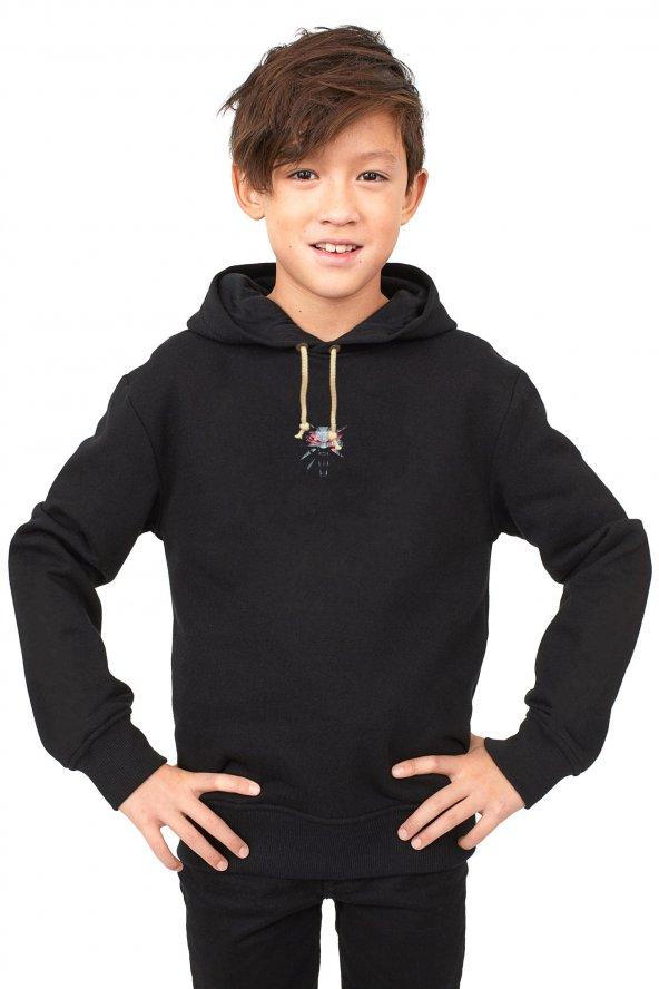 Tshirthane Witcher 3 Çocuk Uzunkollu Kapşonlu Sweatshirt