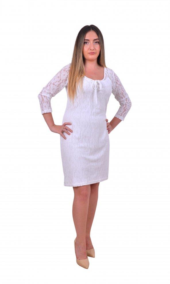 Perimir Özel Tasarım Bağcıklı Dantel Elbise