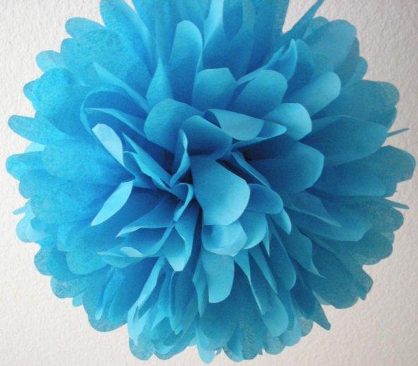 Koyu Mavi Gramafon Kağıt Süs