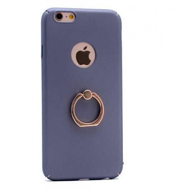 Apple iPhone 6 Plus Kılıf Yüzüklü Rubber Kapak