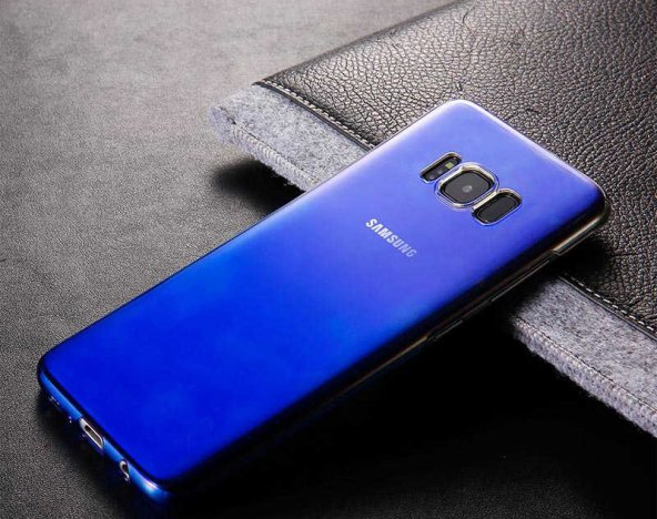 Samsung Galaxy S8 Kılıf Lopard Renkli Transparan Arka Kapak Gökkuşağı