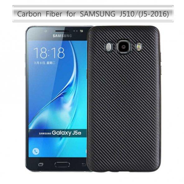 Samsung Galaxy J5 2016 Kılıf Lopard Karbon Silikon Kapak Arka Koruma