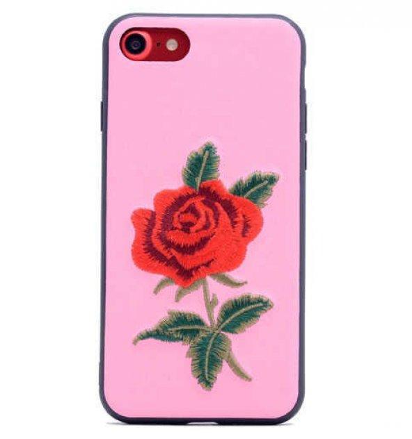 Apple iPhone 7 Kılıf Lopard Rose Kapak Arka Koruma Kabı