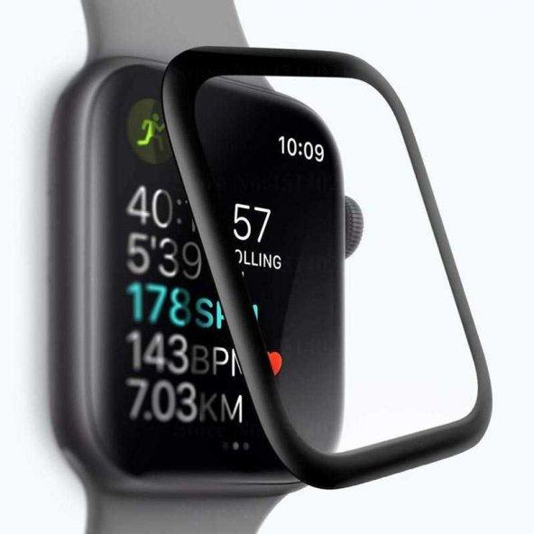 Apple Watch 44 mm Full Yapışkanlı Cam Ekran Koruyucu