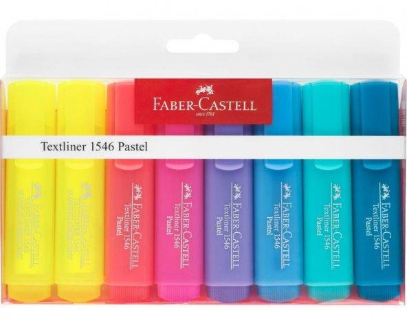 Faber Castell Şeffaf Gövde Fosforlu Kalem 6+2 Renk Pastel Tonlar