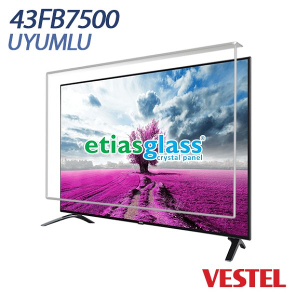 VESTEL 43FB7500 TV EKRAN KORUYUCU / EKRAN KORUMA CAMI Etiasglass