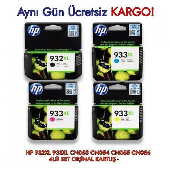 HP 932XL 933XL CN053 CN054 CN055 CN056 4LÜ SET ORJİNAL KARTUŞ