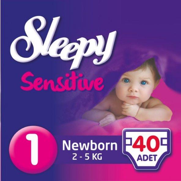 Sleepy Jumbo No:1 2-5Kg 40lı Sensitive Bebek Bezi