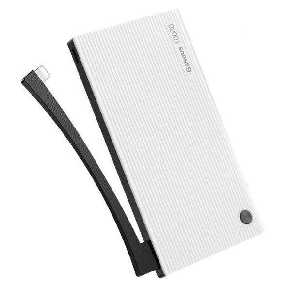Baseus Esazi çift input Digital Display Powerbank 10000 Mah Beyaz