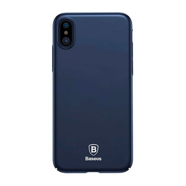 Baseus Thin Kılıf  iPhone X Koyu Mavi