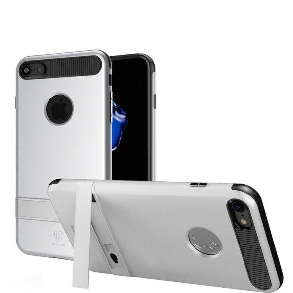 Baseus iBracket Stantlı Kılıf iPhone 7 / 8 Gümüş