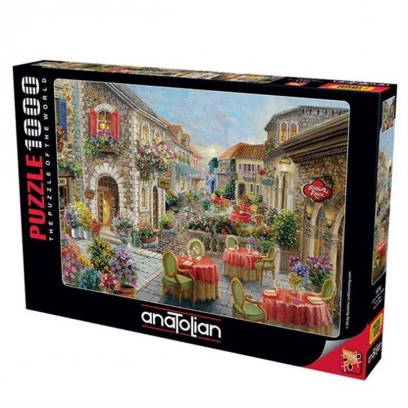 Anatolian Puzzle 1000 Parça Çiçekli Kafeler Sokağı