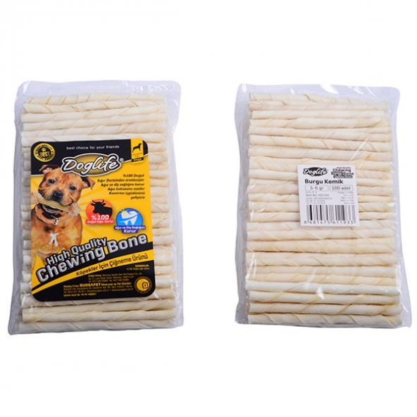 Doglife Burgu Çubuk 5-6 Gr 100 lü Beyaz