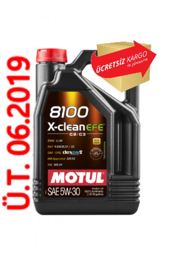 Motul 8100 X Clean Efe 5W30 4 Litre