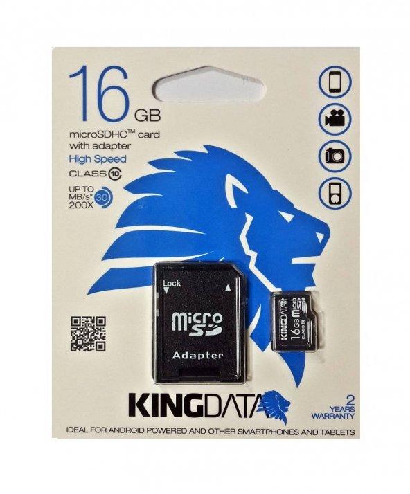 Kıngdata 16 Gb Micro Sd Hafıza Kartı