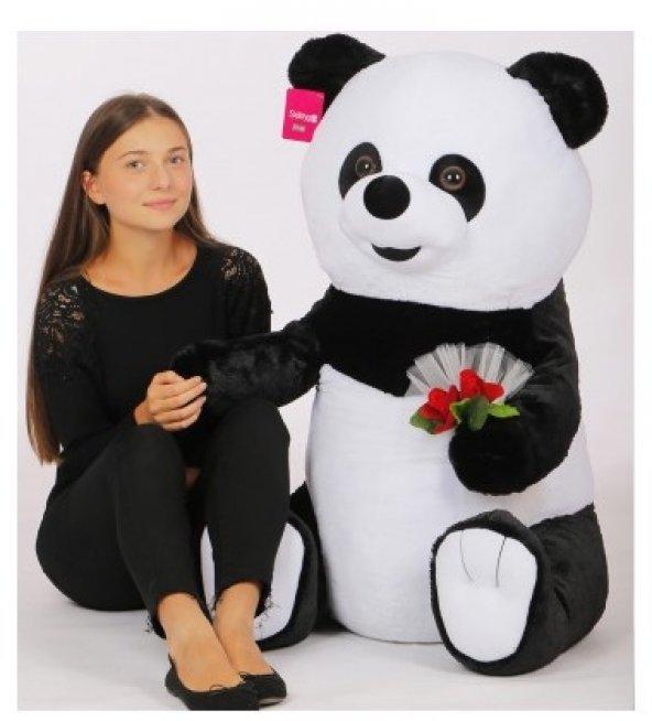 Panda Çiçekli 100 CM Peluş Oyuncak