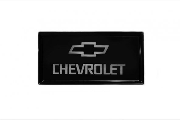 Chevrolet Logolu Küçük Boy Siyah Servis Tabağı