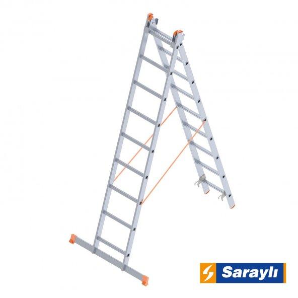 2X9 Çift Sürgülü Endüstriyel Merdiven