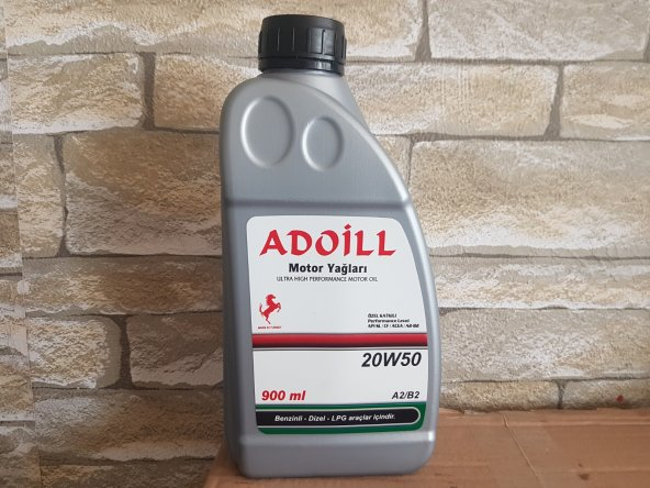Adoil 20w50 1 Litre Motor Yağı 2018 Yerli Üretim