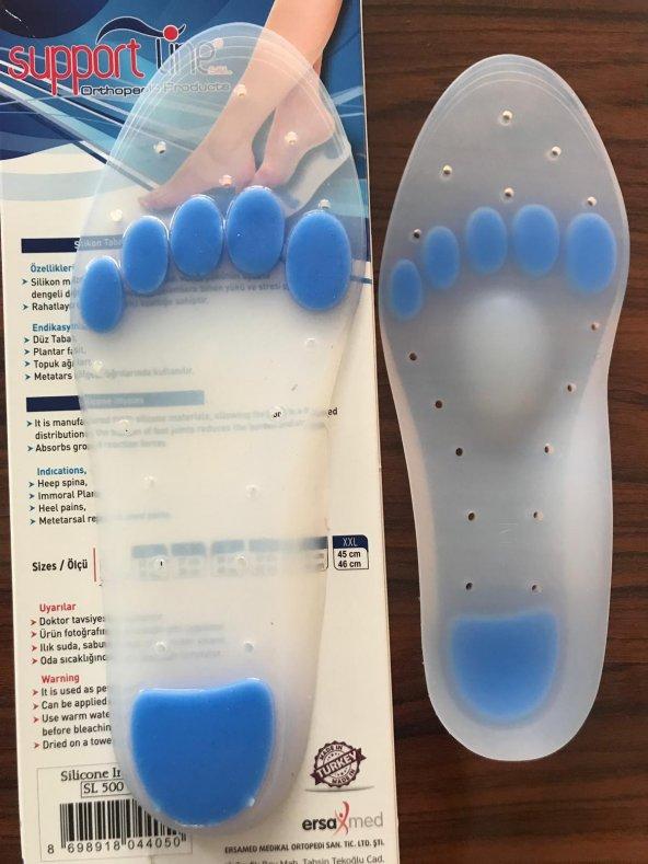 Ark Takviyeli Silikon Yoyo Tabanlık - Düz taban- Topuk ağrıları