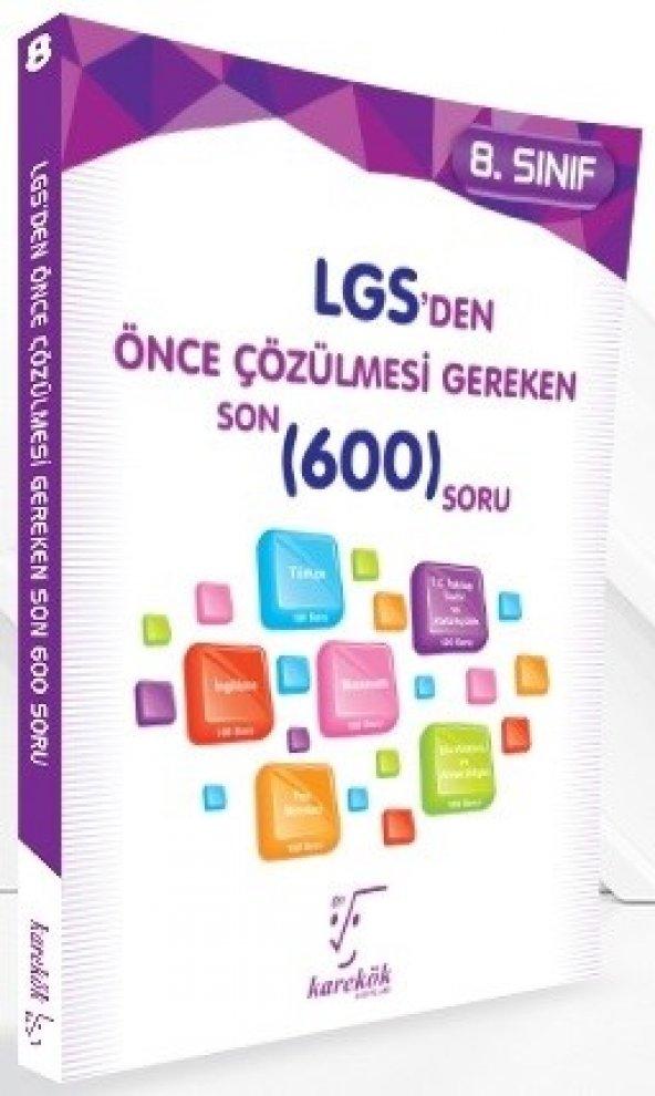 Karekök Yayınları LGS den Önce Çözülmesi Gereken Son 600 Soru