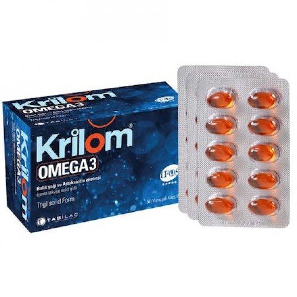 Krilom Omega 3 50 Yumuşak Kapsul SKT:09/2020