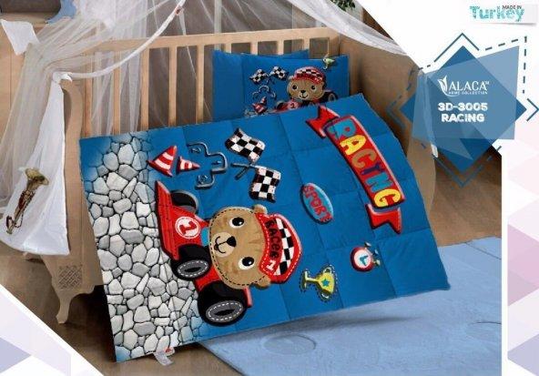 Alaca 3005 Racing 3D Bebek Uyku Seti