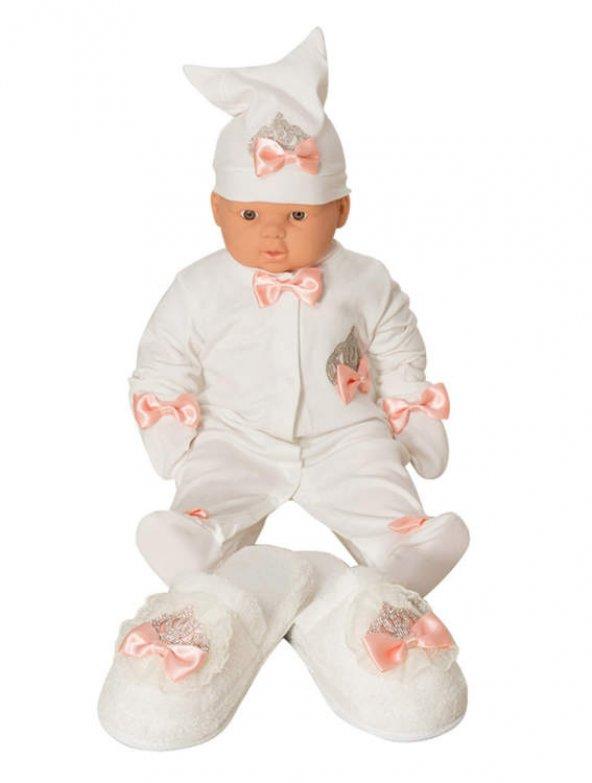 Mecit 5li Bebek Tulum ve Lohusa Terlik Taç Seti 201