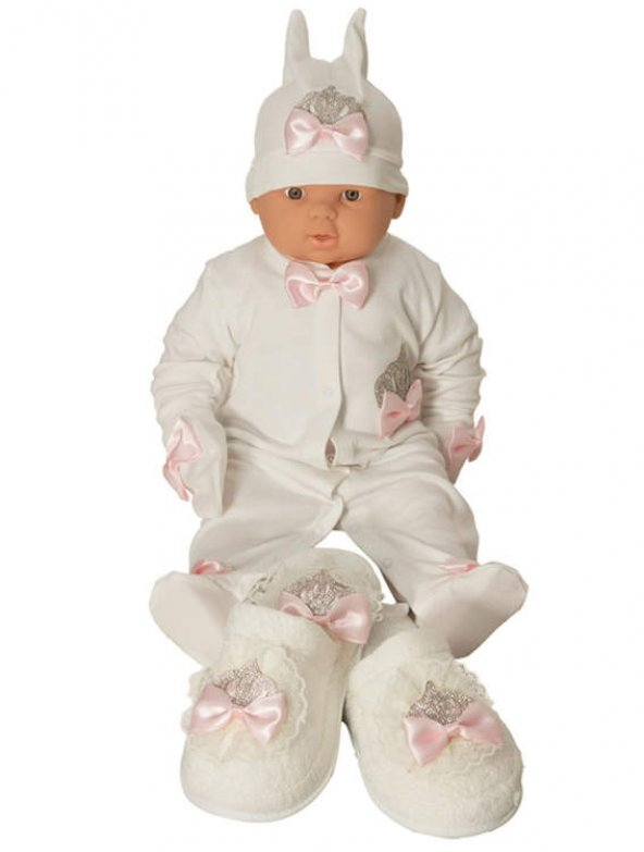Mecit 5li Bebek Tulum ve Lohusa Terlik Taç Seti 203